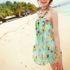 Couple Matching Swim Shorts/ Set: Printed Bikini + Cover-Up 1596