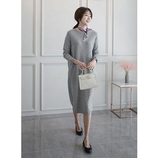 Round-Neck Midi Dress 1057992498