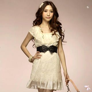 Buy Tokyo Fashion Sleeveless Ruffle-Collar Lace Dress 1022523329