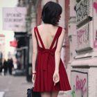 Open Back Sleeveless A-Line Dress 1596