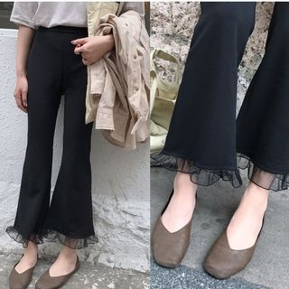 Boot-Cut Cropped Pants 1065279829