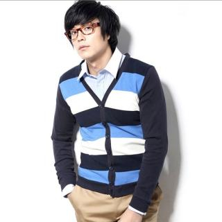 Buy Newyork Story Homme Long-Sleeve Stripe Knit Cardigan 1022314334