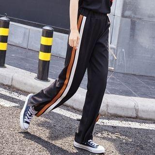 Stripe Wide Leg Pants 1059938756
