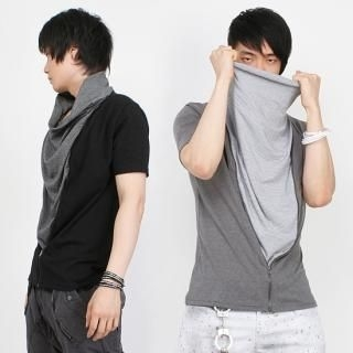 Buy Peeps Inset Drape-Front Short-Sleeve Top 1022875172