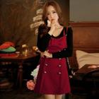 Bow-Accent Jumper Dress 1596