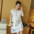 Maternity Lace Panel Short-Sleeve Dress от YesStyle.com INT