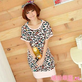 Buy Wonderland Leopard Print Tee-Shirt Dress 1022836933