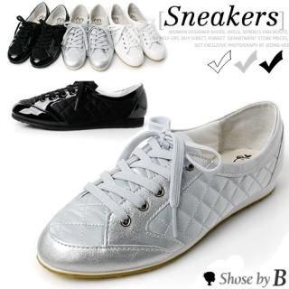 Picture of Shoes by B Patent Quilted Sneakers 1023070999 (Sneakers, Shoes by B Shoes, Korea Shoes, Womens Shoes, Womens Sneakers)