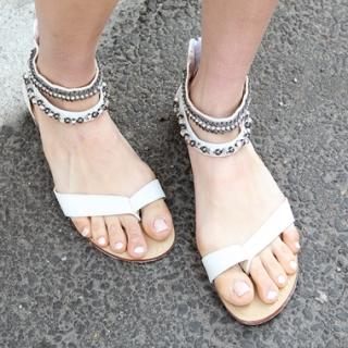 Picture of Drama Studded Sandals 1022768516 (Sandals, Drama Shoes, Korea Shoes, Womens Shoes, Womens Sandals)