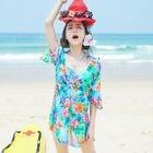 Set : Floral Print Bikini + Cover-up 1596