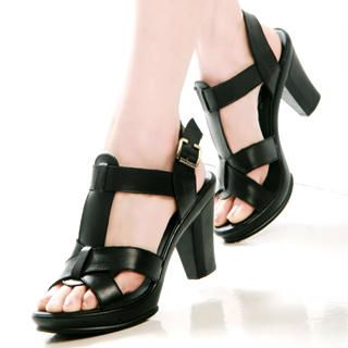 Buy Kvoll Genuine Leather Platform Sandals 1022501868
