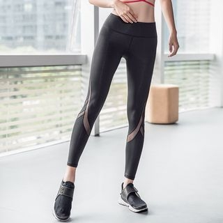 Sports Mesh Panel Leggings 1060725437