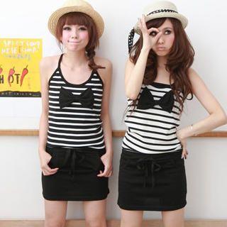 "Buy ZOO Sleeveless ""Bow"" Striped Panel Dress 1023030970"