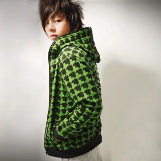 Buy SLOWTOWN Long-Sleeve Two-Tone Hoodie 1023009078