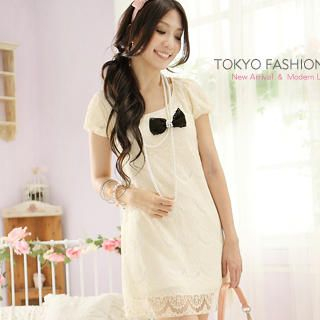 Buy Tokyo Fashion Short-Sleeve Lace Dress 1022882992