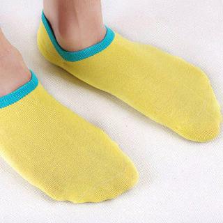 Contrast-Trim Socks