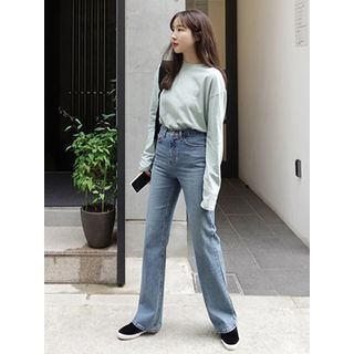 Washed Wide-Leg Jeans 1063335907
