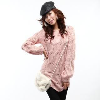 Buy Daily Pink Cable-Knit Sweater 1022152292