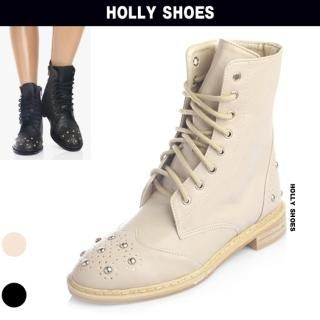 Buy Holly Shoes Studded Front Lace-Up Hiking Boots 1023049194
