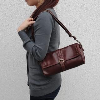 Picture of anello Buckled Flap Shoulder Bag Brown - One Size 1022806473 (anello, Shoulder Bags, Japan Bags, Womens Bags, Womens Shoulder Bags)