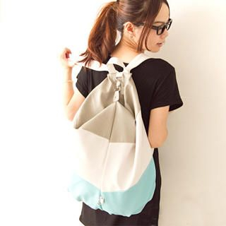 Buy Fashion Lady Color-Block Backpack 1023046813