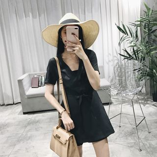V-neck Short-Sleeve Playsuit 1059495880