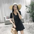 V-neck Short-Sleeve Playsuit 1596