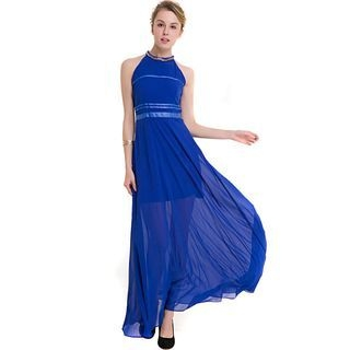 Halter Maxi Chiffon Dress 1060566750