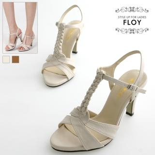 Buy FLOY SHOES Braided T-Strap Sandals 1023053905