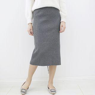 Ribbed Midi Skirt 1062561011