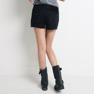Buy COZY Distressed Shorts 1023061814