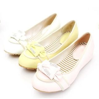 Picture of KAWO Rhinestone Bow-Accent Flats 1022760990 (Flat Shoes, KAWO Shoes, China Shoes, Womens Shoes, Womens Flat Shoes)