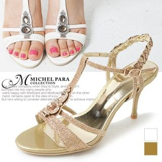 Buy MICHEL PARA COLLECTION Rhinestone T-Strap Stilettos 1022938743