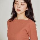 Boatneck Ribbed Top 1596