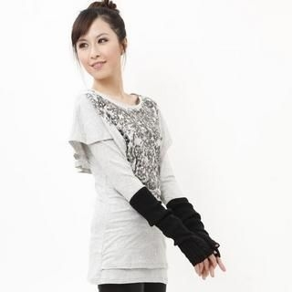 Buy Yammi Studded Top Gray – One Size 1021347912