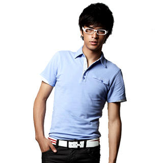 Picture of Justyle Button-Detail Polo Shirt 1022441863 (Justyle, Mens Tees, China)
