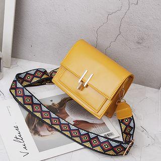 Image of Pattern Strap Shoulder Bag