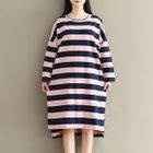 Striped Knitted Dress 1596