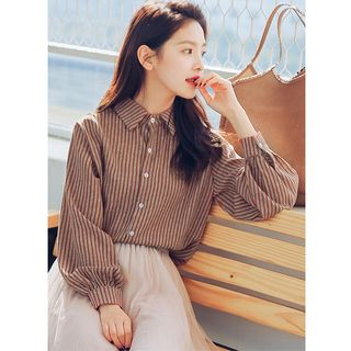 Valus Striped Long Sleeve Blouse
