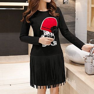 Applique Fringed Tunic 1048637110