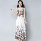 Sleeveless Floral Maxi Dress 1596