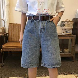 High-waist   Denim   Short