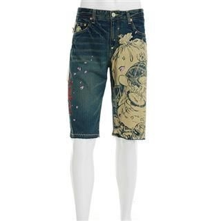Picture of Buden Akindo Denim Shorts - Mahaa-kaala 1011107990 (Buden Akindo, Mens Denim, Japan)