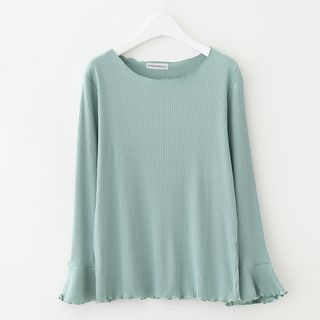 Ribbed Long-Sleeve T-Shirt 1062161806