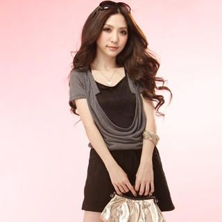 Buy Tokyo Fashion Inset Studded Front Cowl-Neck Dress 1022996114