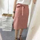 Check Pencil Skirt 1596