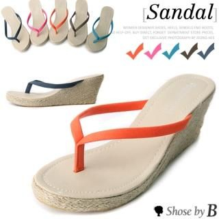 Buy Shoes by B Wedge Flip Flops 1022966902