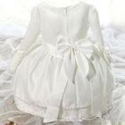 Kids Lace Trim Layered Long Sleeve Dress 1596