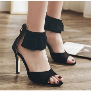 Peep Toe Ankle Strap Stilettos Sandals 1064790909