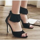 Peep Toe Ankle Strap Stilettos Sandals 1596